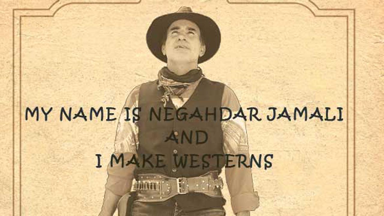 "Plakat ""My Name is Negahdar Jamali And I Make Westerners"" (Ausschnitt)"